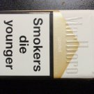 EMPTY Cigarette Box Collectible MARLBORO GOLD w/ Warning labels - EMPTY