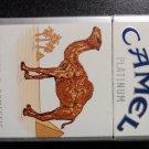EMPTY Cigarette Box Collectible USA CAMEL Platinum - VA tax stamp label - EMPTY