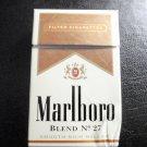 EMPTY Cigarette box Collectible MARLBORO BLEND No. 27 - EMPTY BOX