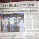 WHITE HOUSE SEEKS $1 TRILLION STIMULUS Washington Post Front Section Mar 19 2020