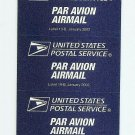 US Airmail Par Avion Etiquette Label 19-B 2002 - Self Adhesive MINT - Pane of 5