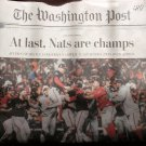 WASHINGTON NATIONALS WORLD SERIES 2019 Post Newspaper NATS ARE CHAMPS Front Pg