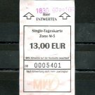 MUNICH GERMANY S BAHN U BAHN Transit Train Metro Subway ticket March 2020 Used