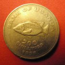 UGANDA Coin 200 Shillings Fish 1998 VF KM #68