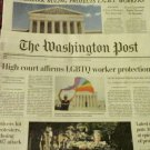 LANDMARK RULING PROTECTS LGBT WORKERS New York Times Washington Post Front Page