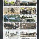 NETHERLANDS Scott 1346 Aviation - Sheetlet of 10  MNH