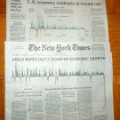 NEW YORK TIMES WASHINGTON POST Economy Contracts at Record July 31 2020 Pandemic