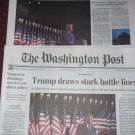 TRUMP CONVENTION SPEECH Washington Post NY Times Newspapers Aug 28 2020