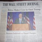 WALL STREET JOURNAL Newspaper - Biden Makes Case to Oust Trump Aug 21, 2020
