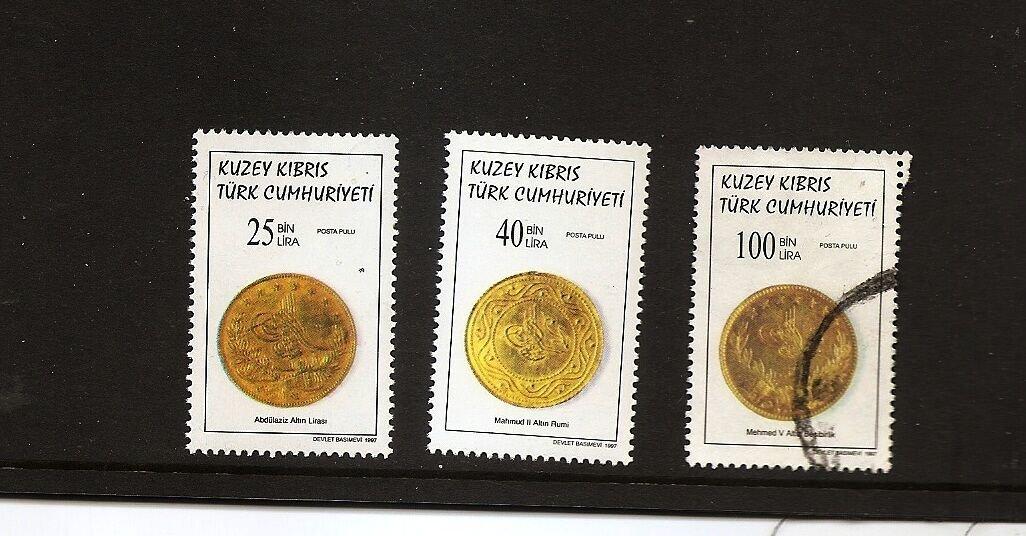 TURKISH CYPRUS  1997 / Scott 442-43, 445 Coins