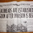 CINCINNATI TIMES-STAR World War II Newspaper D-Day Invasion June 6 1944