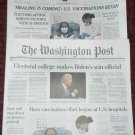 WASHINGTON POST / NEW YORK TIMES - ELECTORAL COLLEGE BIDEN December 15 Fronts