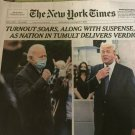 NEW YORK TIMES BIDEN / TRUMP Day after Election 2020 November 4 Section A