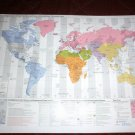 WORLD MAP U.S. Department of State - Diplomatic Posts Embassies  Wall map