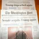 WASHINGTON POST Senate Acquits Trump / Trump Impeached Again