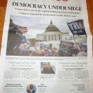 DEMOCRACY UNDER SEIGE Trump Rioters Storm Capitol POLITICO Newspaper Jan 7 2021