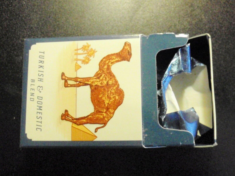 EMPTY Cigarette Box Collectible CAMEL BLUE - pristine - Virginia tax label EMPTY