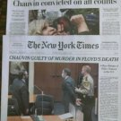 WASHINGTON POST NEW YORK TIMES George Floyd / Chauvin Guilty of Murder Apr 21