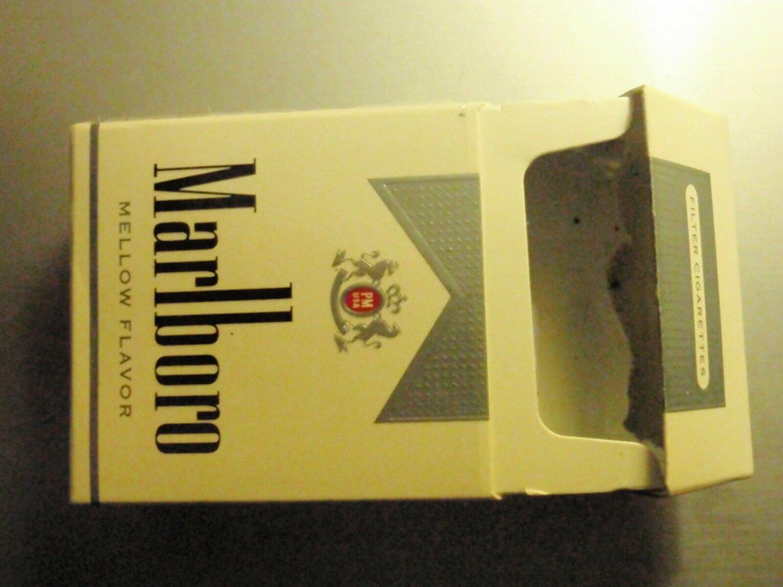 EMPTY Cigarette Box Collectible USA - MARLBORO Mellow SILVER PACK - EMPTY