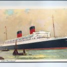 Steamship RMS Mauretania (1938) Advertising Postcard 1950 Mint