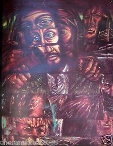 Signed ART EXHIBIT POSTER by Alejandro Romero - JOHN HANCOCK CENTER  CHICAGO