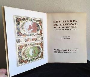 LES LIVRES DE L'ENFANCE DU XVE AU XIXE SI�CLE 2 Vols,CHILDREN'S BOOK CATALOGUE
