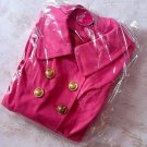 MA*RS Fuchsia Pink Trench Coat Size M New With Tags Gyaru Fashion