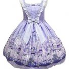 Angelic Pretty Castle Mirage Jumperskirt Dress in Lavender Lolita Fashion