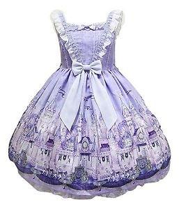 Angelic Pretty Castle Mirage Jumperskirt Dress in Lavender Lolita Fashion