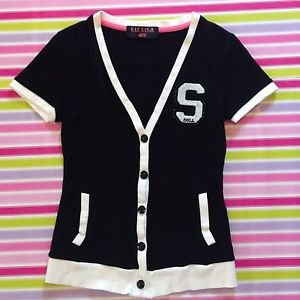 Liz Lisa Doll Sport Black Cardigan Size S Gyaru Fashion