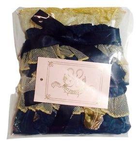 Metamorphose Vintage Cameo Frilled Wristband (set of 2) in Navy Lolita Fashion