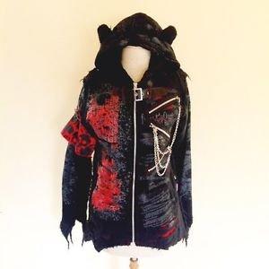 Mad Girl Black Jacket Japanese Harajuku Fashion Gothic Lolita