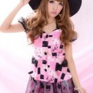 MA*RS Sweet Block Pattern Pink Top Gyaru Japanese Fashion