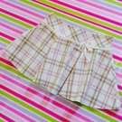 Liz Lisa Cream Checked Tartan Mini Skirt Size S Japanese Fashion