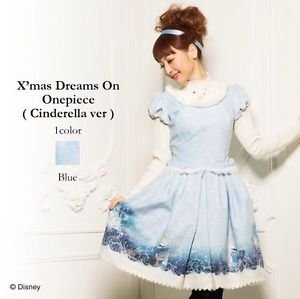 Authentic Disney Princess Cinderella Onepiece Winter Dress by Secret Honey Japan