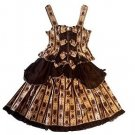 Metamorphose Royal Ornament Skirt + Bustier Set in Chocolate Lolita Fashion