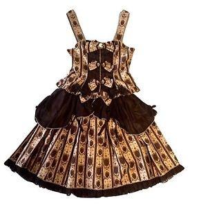 Metamorphose Royal Ornament Skirt + Bustier Set in Chocolate Lolita Fashion