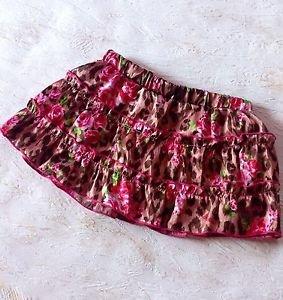 MA*RS Sugargloss Rose Pattern Brown Mini Skirt Shibuya 109 New Without Tags