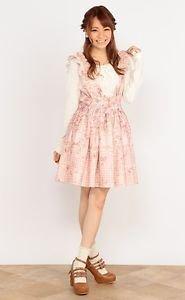 Liz Lisa Kawaii Pink Floral Skirt Overall Japanese Fashion