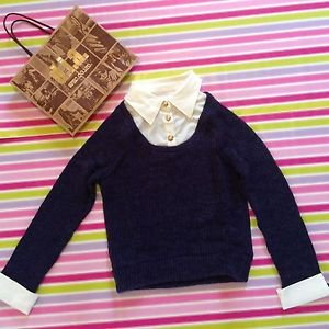 DIA Blue Gyaru Sweater Japanese School Style D.I.A. Gal Fashion