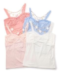 Liz Lisa Kawaii Camisole With Snowflake And Pom Pom Charm Japanese Fashion