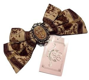 Metamorphose Royal Ornament Barrette Headbow in Chocolate Lolita Fashion