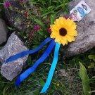 Official Disney Frozen Fever Anna Hair Tie Sunflower Ribbon Accessory
