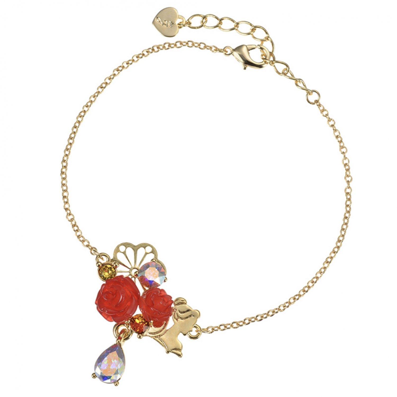 Disney Store Japan Beauty and the Beast Swarovski Crystal Bracelet