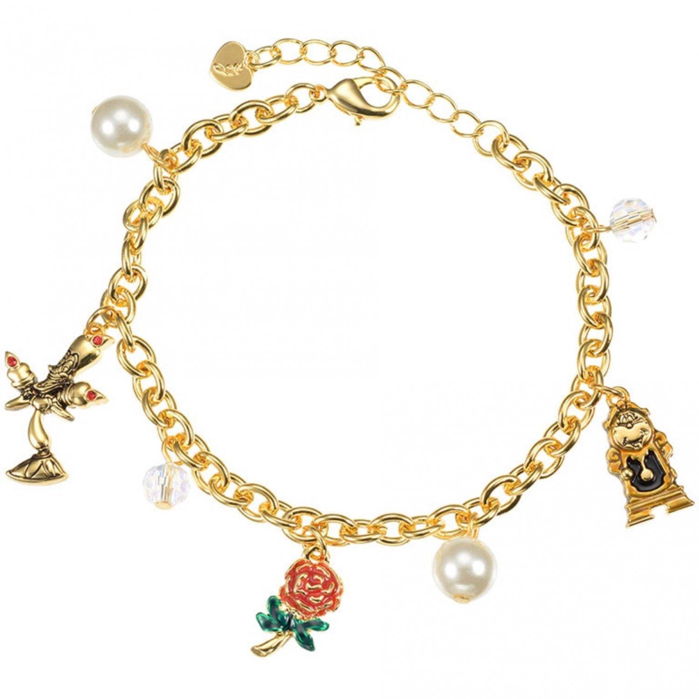 Disney Store Japan Beauty and the Beast Chunky Charm Bracelet
