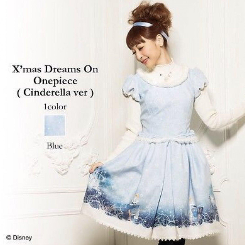 Disney Cinderella Onepiece Winter Dress by Secret Honey Japan