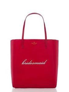 Kate Spade Wedding Bridesmaid Gift Bon Shopper Tote Shoulder Bag Magenta Pink