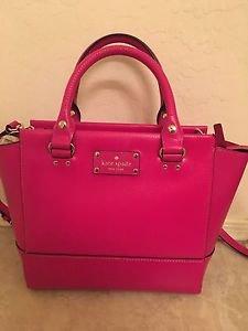 Kate Spade Leather Camryn Small Satchel Shoulder Bag Crossbody Sweetheart Pink
