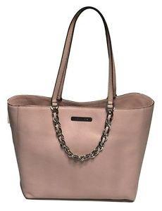 Michael Kors Pebbled Leather Harper Large Tote Shoulder Bag Blossom Light Pink