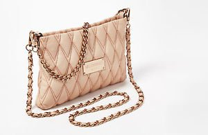 Valentino Vanille Italian Leather Convertible Crossbody Shoulder Bag Rose Pink